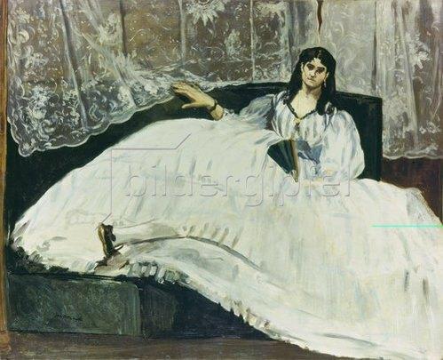 Edouard Manet: Dame mit Fächer (La Maitresse de Baudelaire). 1863