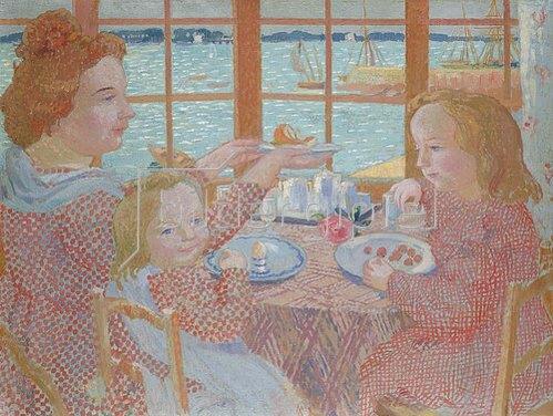 Maurice Denis: Frühstück auf der Veranda.