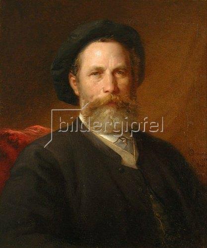 Otto Ph Donner von Richter: Bildnis des Malers Christian Adolf Schreyer. 1888.