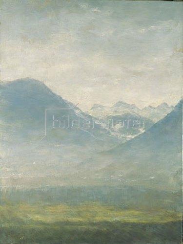 Louis Eysen: Blick ins Ulten-Tal.