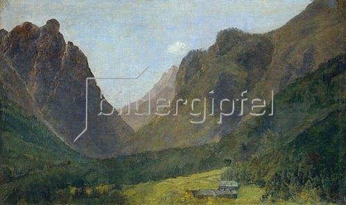 Louis Eysen: Blick vom Toblacher See zum Eingang des Höllensteintals (Ampezzo-Tal).