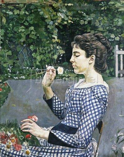 Ferdinand Hodler: Bildnis eine jungen Mädchens (Hélène Weiglé). 1888.