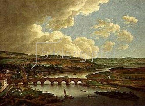 Ferdinand Kobell: Mainbrücke in Aschaffenburg