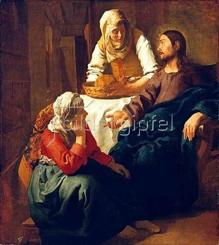 Jan Vermeer van Delft: Christus im Hause von Martha und Maria. Um 1654