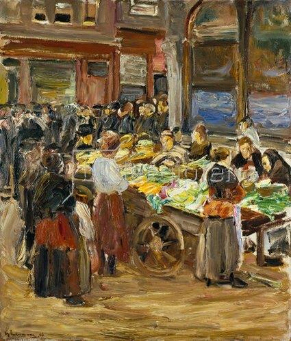 Max Liebermann: Markt in der Judengasse in Amsterdam. 1908