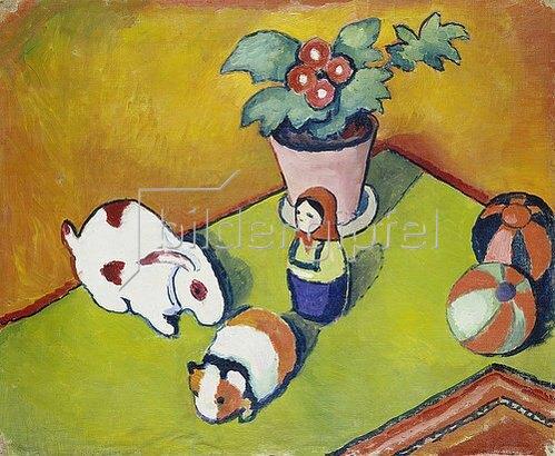 August Macke: Walterchens Spielsachen. 1912
