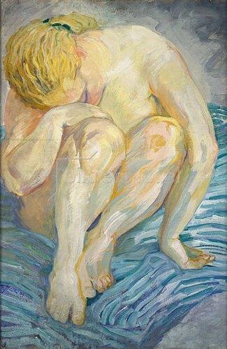 Franz Marc: Aktstudie (Hockende). 1909