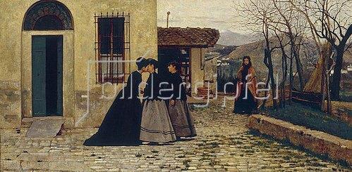 Silvestro Lega: Der Besuch. 1868.
