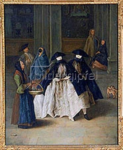 Pietro Longhi: Die Parfüm-Verkäuferin in Venedig.
