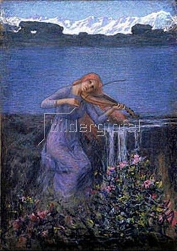 Emilio Longoni: Die Melodie des Flusses. 1900/1903.