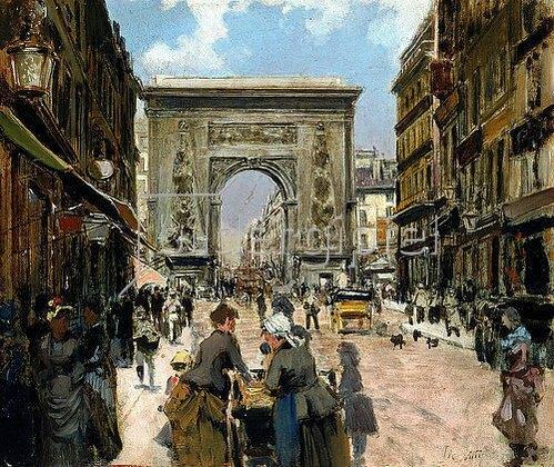 Giuseppe de Nittis: Die Porte Saint-Denis.