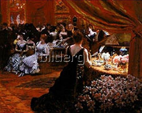 Giuseppe de Nittis: Im Salon der Prinzessin Matilde. 1883.