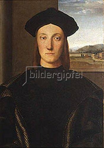 Raffael (Raffaello Sanzio): Bildnis des Guidobaldo da Montefeltro. 1504