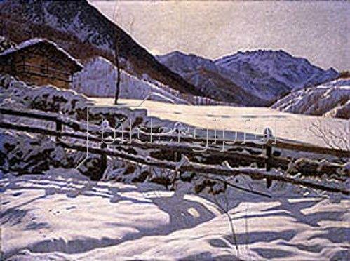 Matteo Olivero: Winterliche Einsamkeit. 1908.