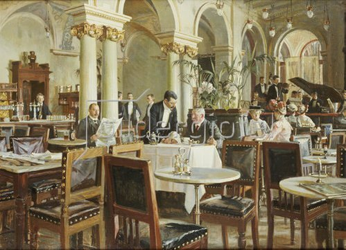 Frants Henningsen: Ein Café in Kopenhagen. 1906