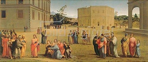 Francesco Granacci: Josef präsentiert dem Pharao seinen Vater und seine Brüder.