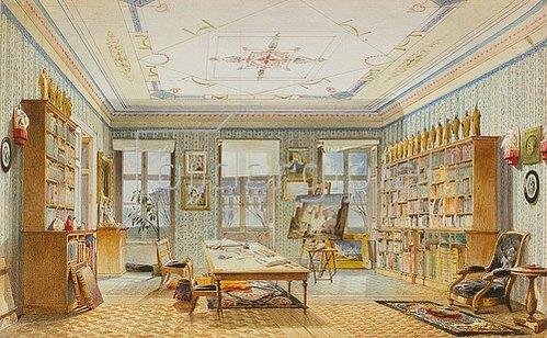 Angelo Jank: Klenzes Arbeitszimmer. 1864