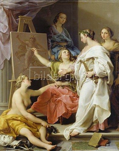 Pompeo Girolamo Batoni: Allegorie der Künste. 1740