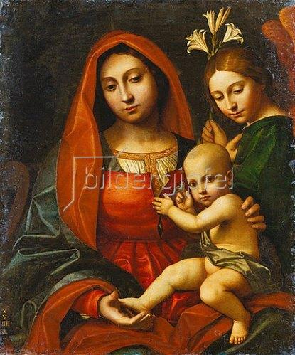 Paolo Moranda Cavazzola: Madonna mit Kind und einem Engel.
