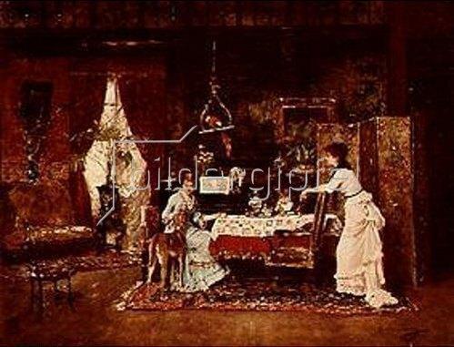 Mihály Munkácsy: Der Windhund. 1882