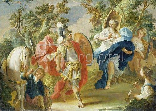 Anton Kern: Rinaldo und Armida im Zauberwald. Um 1730/38