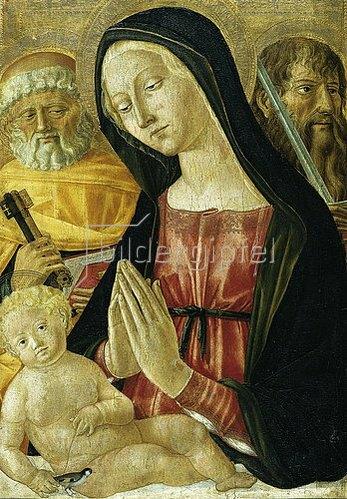 Neroccio di Bartolomeo Landi: Madonna mit Kind und den hll. Petrus und Paulus.