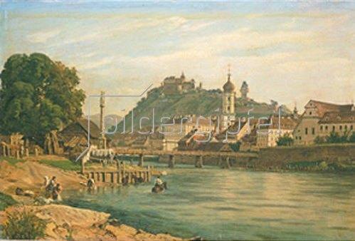 Jakob Alt: Ansicht von Graz in der Steiermark. 1850/1859.