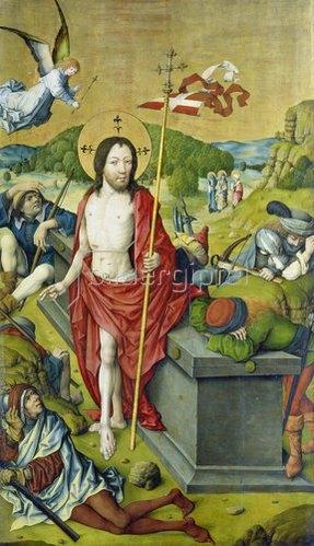 Meister des Hausbuches: Die Auferstehung Christi.