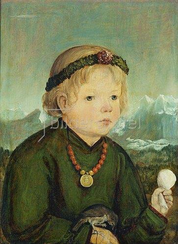 Salzburger Meister: Bildnis eines Kindes aus der Familie Thenn.