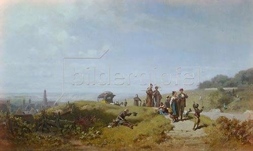 Carl Spitzweg: Der Sonntagsspaziergang (oder: Osterspaziergang). Um 1865