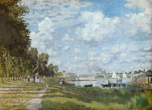 Claude Monet: Flußlandschaft bei Argenteuil. Um 1872