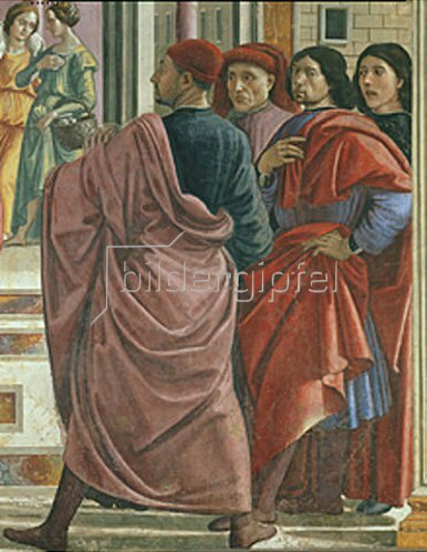 Domenico (T.Bigordi) Ghirlandaio: Die Vertreibung Joachims aus dem Tempel (Detail)