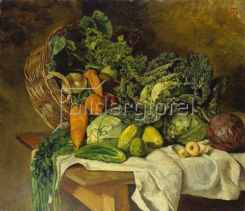 Hans Thoma: Stillleben mit Gemüse. 1873