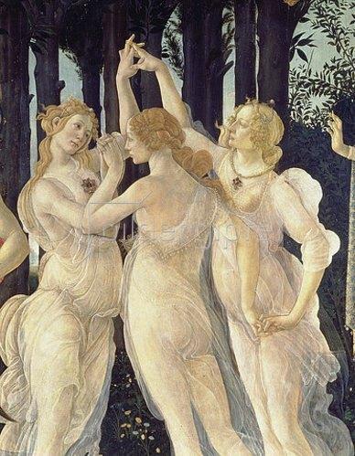 Sandro Botticelli: Die drei Grazien. Detail aus: Der Frühling. 1478