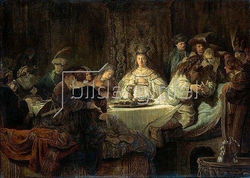 Rembrandt van Rijn: Simson gibt den Hochzeitsgästen das Rätsel auf. 1638