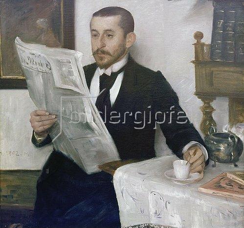 Lovis Corinth: Bildnis des Malers Benno Becker. 1892