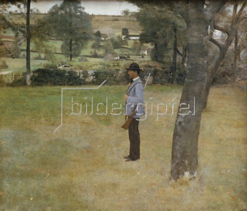 Fernand Khnopff: Der Jagdaufseher. 1883.