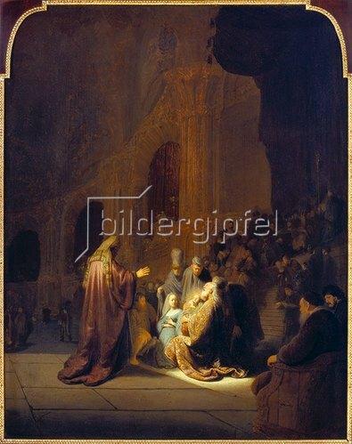Rembrandt van Rijn: Simeon im Tempel. 1631