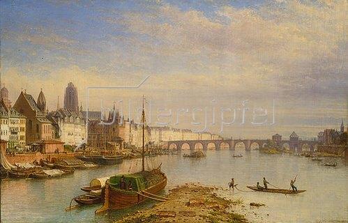 Carl Morgenstern: Blick auf Frankfurt am Main von Westen her. 1850.