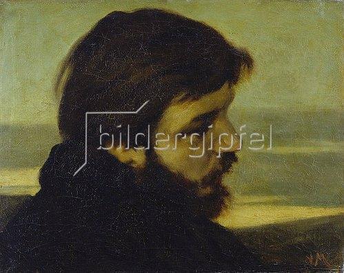 Victor Müller: Bildnis Otto Franz Scholderer. Um 1861