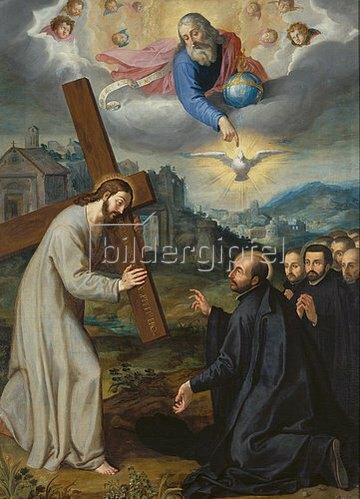 Süddeutsch: Die Vision des heiligen Ignatius bei La Storta.