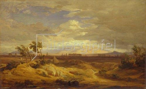 Eduard Wilhelm Pose: Klassische Campagna-Landschaft.
