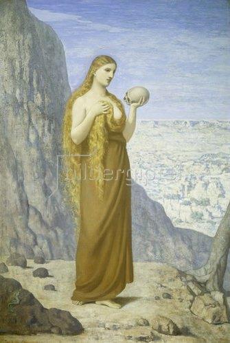 Pierre Puvis de Chavannes: Maria Magdalena in der Wüste. 1870