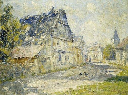 Christian Rohlfs: Dorfstrasse in Ehringsdorf bei Weimar. 1893.