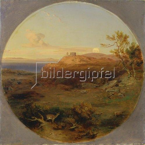 Carl Rottmann: Griechische Landschaft auf der Insel Aegina.