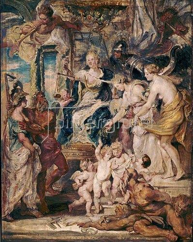 Peter Paul Rubens: Die glückliche Regierung der Königin. Skizze zum Medici-Zyklus