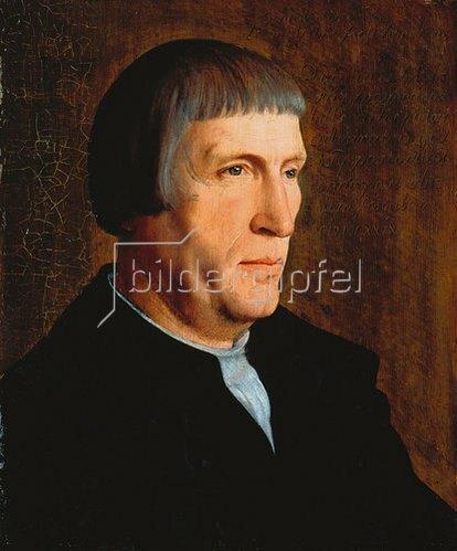 Jan van Scorel: Männliches Bildnis, angeblich des Quinten Massys.