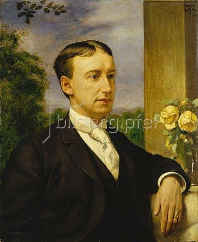 Hans Thoma: Bildnis Henry Thode. 1890.