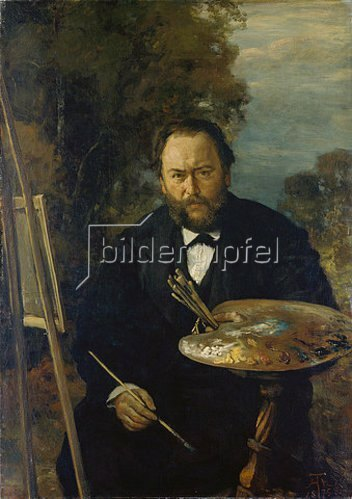 Hans Thoma: Bildnis des Malers Carl Peter Burnitz.