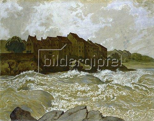 Hans Thoma: Der Rhein bei Laufenburg.